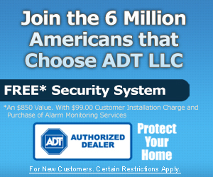 ADT Free $850 Security System