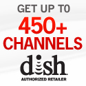 Dish Network small square banner 3 months free